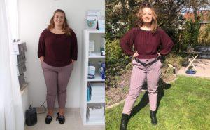 Voor en na foto Lotte Corijn Afvallen 30 KG