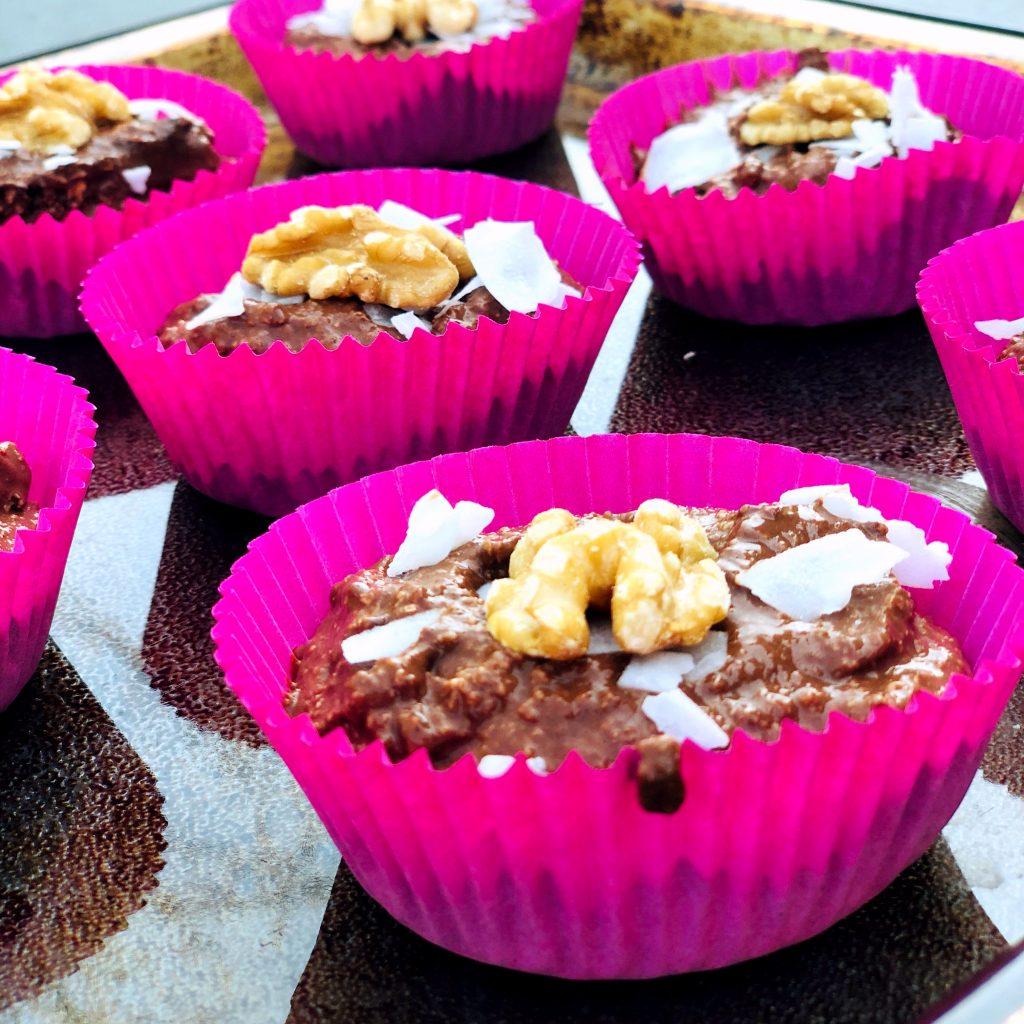 Gezonde Cupcake Banaan Pindakaas Cacao Havermout