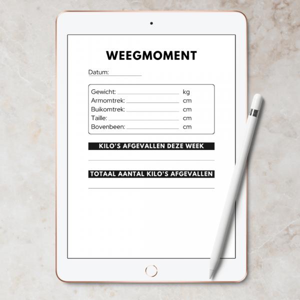 Maaltijden planner boek afvallen dieet
